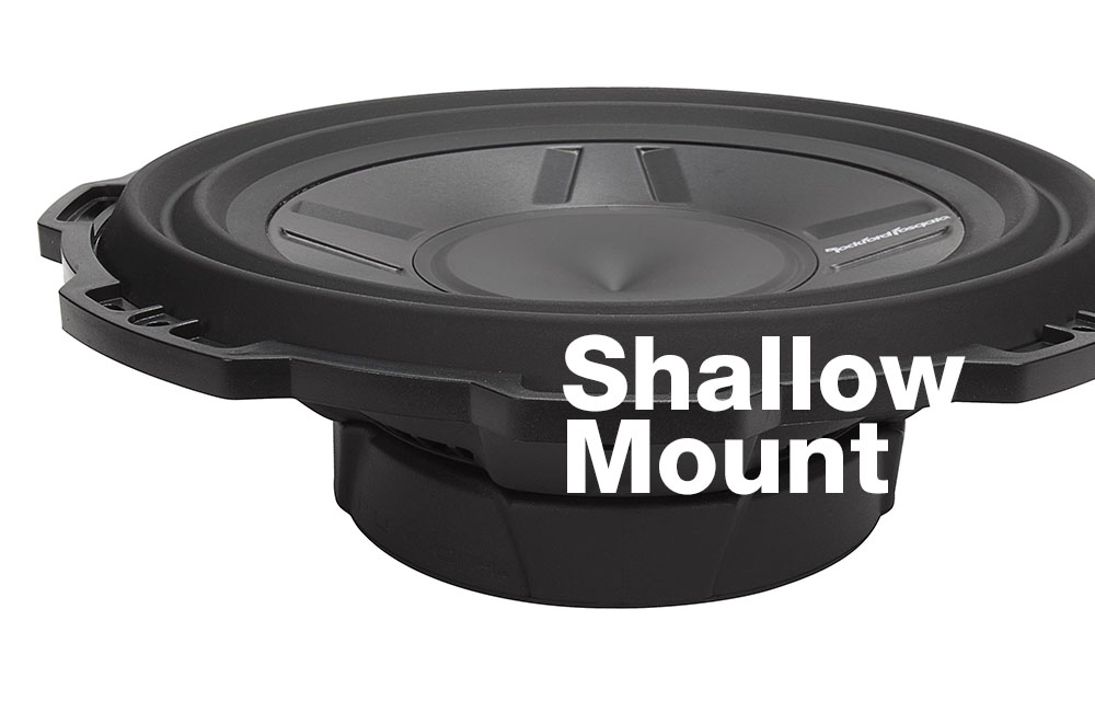 best shallow mount subwoofers 2
