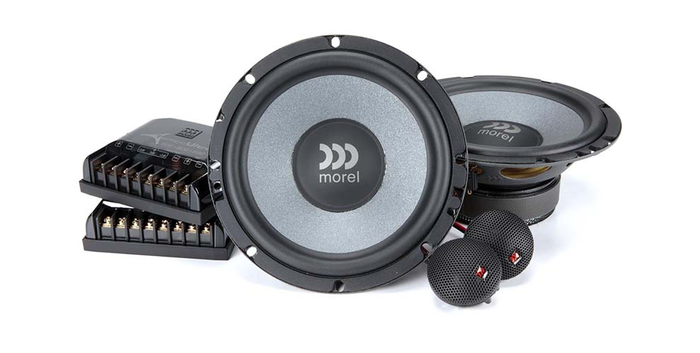A typical component speaker