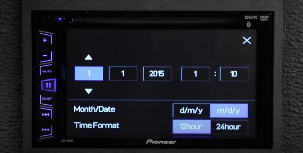 How to Set the Clock on a Pioneer Car Stereo Single and Double DIN